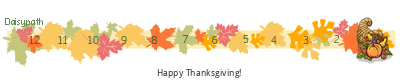 Daisypath Thanksgiving tickers